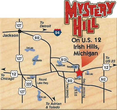 Attractions Irish Hills Michigan, Mystery Hill Brooklyn Michigan